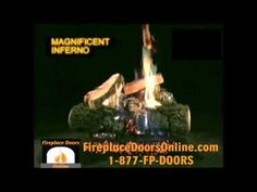 Magnificent Inferno Vented Gas Log Set - YouTube