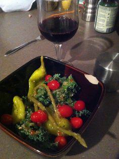 Salads and wines