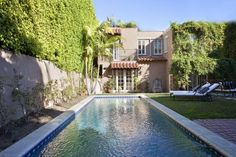 "Outside, you'll find a lush, private escape that's been the scene of many a Hollywood party. ""I think the backyard is a very peaceful oasis,"" Jana says. ""It's beautifully done -- with the [more] fountains and the pool -- and it just makes you want to relax all day."" Lauren Conrad's backyard"
