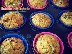 briose cu spanac Parmezan, Muffin, Breakfast, Food, Morning Coffee, Essen, Muffins, Meals, Cupcakes