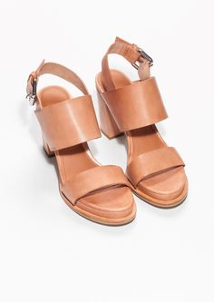 & Other Stories   Buckled Leather Sandals