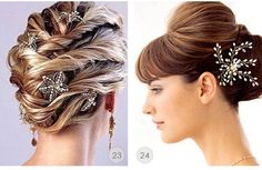 love #23 on the left. definitely a possible hairdo for my wedding!