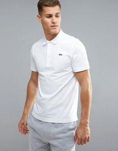 cd2d806fc1edf Get this Lacoste Sport s polo shirt now! Click for more details. Worldwide  shipping. Lacoste Sport Textured Ribbed Polo Shirt in White - White  Polo  shirt ...