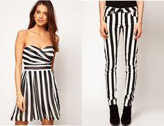 ¿Te gustan las rayas? Tendencia en blanco y negro para esta temporada primavera/verano.