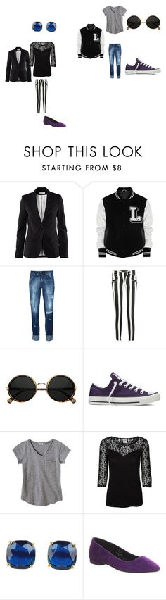 """Work and play"" by victoria-murray-1 ❤ liked on Polyvore featuring H&M, Lulu and Co., Pierre Balmain, Balmain, Converse, Vero Moda, Kate Spade and Office"