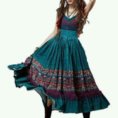 Artka Crazy In Life Dresses & Skirts - ARTKA CRAZY IN LIFE MIXED MEDIA BOHO GYSPY DRESS