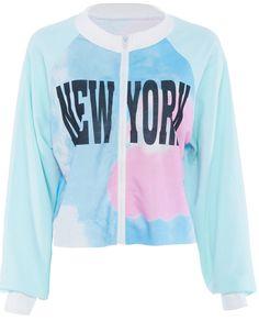 NEW YORK Print Multicolor Jacket   Spot it Pop it