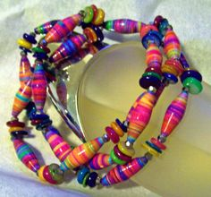 Candras Handspun Colors of Summer Bracelet by Candras on Etsy, $24.99