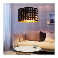 IKEA - NYMÖ, Lamp shade, Create your own personalized pendant or floor lamp by combining the lamp shade with your choice of cord set or lamp base.Creates a decorative light pattern in the room when the light shines through the perforated shade.