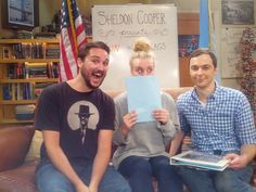 Wil Wheaton, Kaley Cuoco, and Jim Parsons!