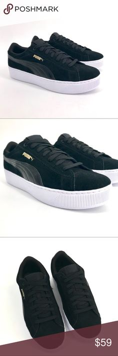 30 Best Puma Vikky Black and White Suede images | Fashion