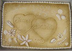 Oakmont Bakery beach bridal shower cake