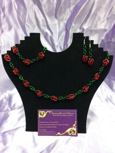 A personal favourite from my Etsy shop https://www.etsy.com/uk/listing/220640392/ring-of-roses-chainmaille-necklace