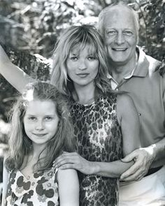 Photo of Kate Moss & her Father  Peter Moss
