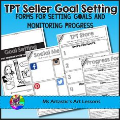 As a TPT Seller, it is important to set goals and reflect on your practice as a business owner to help you and your store grow. Goal setting is a great way to keep you on track for improving and growing your store each month.This is a great journal to print of and add to a TPT binder each year as part of your New Years goal setting for TPT.