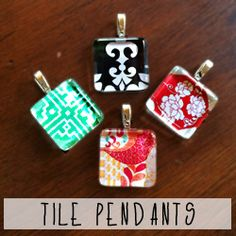 Frame your favorite images and turn them into a classy glass tile pendant--these are inexpensive and easy if you want to use your unit crest.