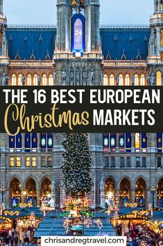Traveling to Europe for Christmas and ready to explore the the most magical Christmas markets in Europe? Check out the 16 best Christmas markets in Europe. Where to go in Europe during Christmas to see the most beautiful holiday markets. Best European Christmas Markets, Christmas Markets Europe, Christmas Travel, Holiday Travel, Magical Christmas, European Destination, European Travel, European Vacation, Europe Travel Guide