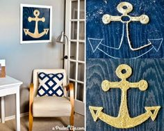 DIY Rope Art for the Wall: http://www.completely-coastal.com/2015/04/diy-rope-art-wall.html