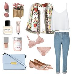 """""""Floral coat..!!"""" by mairak17-7 ❤ liked on Polyvore featuring Alice + Olivia, Miu Miu, La Perla, STELLA McCARTNEY, Givenchy, Bobbi Brown Cosmetics, Marc Jacobs and NARS Cosmetics"""