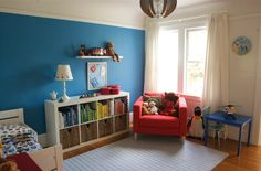 small bedroom paint colors kids living room paint colors  exquisite kids room design with blue wall colors schemes and white pinch pleat window curtain panel plus red upholstered fabric chair also blue finish kid table equipped plastic chair which has steel