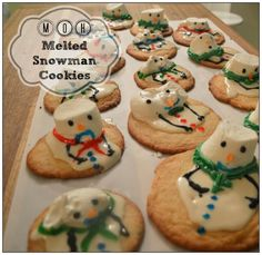 MsMoozys Open House: Melted Snowman Cookies