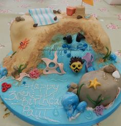 Scuba diving cake from The Jolly Good Pud Company www.jollygoodpud.co.uk