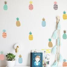 DIY Cartoon Pineapple Decor Wall Stickers Nordic Style Multicolor Children's Room Bedroom Kindergarten Background Layout Home Decoration Stickers (Pineapple Baby Room Wall Stickers, Kids Room Wall Decals, Cheap Wall Stickers, Wall Stickers Murals, Nursery Wall Decor, Nursery Room, Decor Mural, Sticker Mural, Mural Wall
