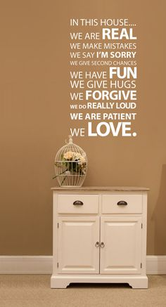 In this house Wall Sticker!