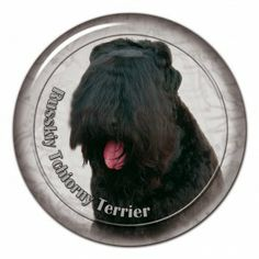Black terrier 3D sticker - #blackterrier #tchiornyterrier #russkyterrier #russkytchiornyterrier