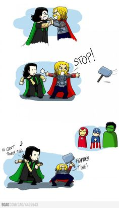 LOL :D - Avengers - Thor & Loki - jamming