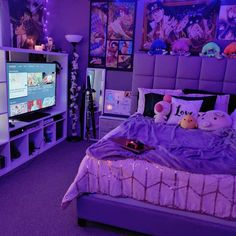 Cool flex game room design jojos kalamari room scrolls staring stop wall hey dear gamers! today i wanted to show you how my little and sweet gaming corner became like is it now it really was a heavy work but Girl Bedroom Designs, Room Ideas Bedroom, Girls Bedroom, Bedroom Decor, Bedroom Inspo, Bedroom Wall, Bedroom Fireplace, Cool Bedroom Ideas, Geek Bedroom