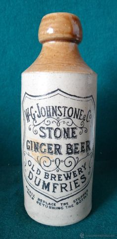 W.G.JOHNSTONE &CO. STONE GINGER BEER. DUMFRIES. CERVEZA INGLESA 1910 ---------------  SE  VENDE  ---------- estalcon@gmail.com