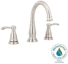 Delta 8 inch widespread bathroom Lavatory Sink tap Faucets New handles 2 Porter #Delta