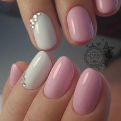 Nail art Christmas - the festive spirit on the nails. Over 70 creative ideas and tutorials - My Nails Elegant Nail Designs, Elegant Nails, Cute Nail Designs, Shellac Nails, Pink Nails, Acrylic Nails, Matte Pink, Blush Pink, Fabulous Nails