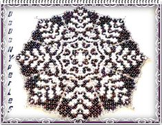 pattern bead weaving doily 27 cm seed bead # 8 or 9 craft pattern with technical to learn danish weaving doily send pdf download