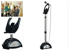 Karaoke-Microphone-System-Machine-MP3-Tablet-Player-Stand-Party-Singing-Music