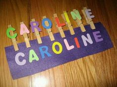 Name Activities: Name Game: Clothespins Felt And Foam Letters. Would Make These With Lowercase Letters. Preschool Names, Name Activities, Toddler Learning Activities, Alphabet Activities, Preschool Activities, Activities For 3 Year Olds, Cognitive Activities, Free Preschool, Early Learning