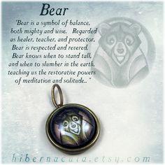 Bear Spirit -- Brass Animal Totem Pendant — HIBERNACULA Bear Spirit Animal, Animal Spirit Guides, Spirit Bear, Animal Meanings, Animal Symbolism, Bear Meaning, Native American Totem, Bear Totem, Power Of Meditation