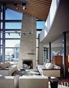 Sofa - Contempory + Modern. Contemporary Living Room by Dineen Architecture + Design and Barnes Coy Architects in East Hampton, New York