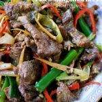 Paleo Mongolian Beef. Beef with scallion and ginger stir-fry. Whole30 mongolian beef. Keto mongolian beef. Paleo chinese food. Paleo Asian food.