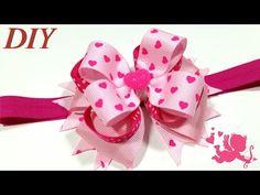 Como Hacer Lazos DIY #185 Lazo Boutique Apilado Tutorial - YouTube Ribbon Hair Bows, Diy Hair Bows, Diy Bow, Ribbon Rose, Ribbon Flower Tutorial, Hair Bow Tutorial, Fabric Bows, Fabric Flowers, Funky Bow