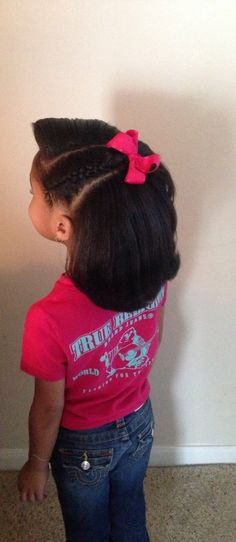 Blow out and straighten on Natural hair! Kids hairstyles by PRIM mobile salon