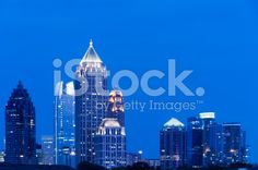 """Atlanta, Georgia - City of Atlanta at night. Empire State Building, Georgia, Atlanta, Royalty Free Stock Photos, Night, City, Travel, Image, Voyage"