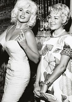 Hollywood Bombshells Jayne Mansfield and Lana Turner ………………..For more classic 60's and 70's pics please visit and like my Facebook Page at https://www.facebook.com/pages/Roberts-World/143408802354196