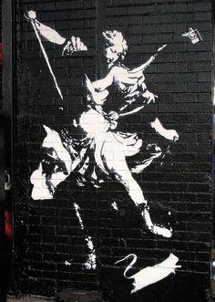 Street Art. Graffiti. Mural. Blek le Rat, Ney York City