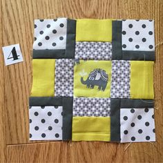 Love this little elephant.  My daughter saw these fabrics go by in my IG feed and she has claimed the quilt!  #100Days100Blocks2017 #workingmystashoff #michaelmiller