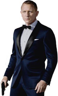 Tom Ford blue tuxedo.
