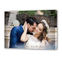 Song lyrics on canvas. Cotton anniversary wedding by blackstrow