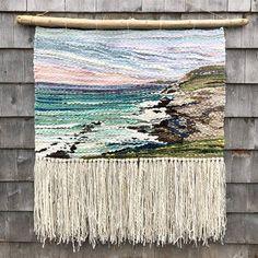 High Head X hand woven tapestry. Weaving Wall Hanging, Weaving Art, Weaving Patterns, Loom Weaving, Tapestry Weaving, Hand Weaving, Retro Crafts, Tear, Boho Diy