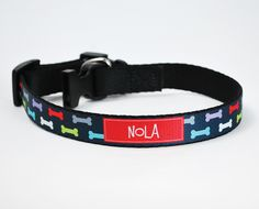 """Give Fido or FiFi your same sense of style with one of our super cute pet collars. These black collars feature a .75"""" x 12"""" image area where your personalization and pattern will be applied. Be sure to check out our coordinating pet tags and leashes!   Please note the smallest collar adjust to 12""""... not small enough for your Yorkie or Chi :("""